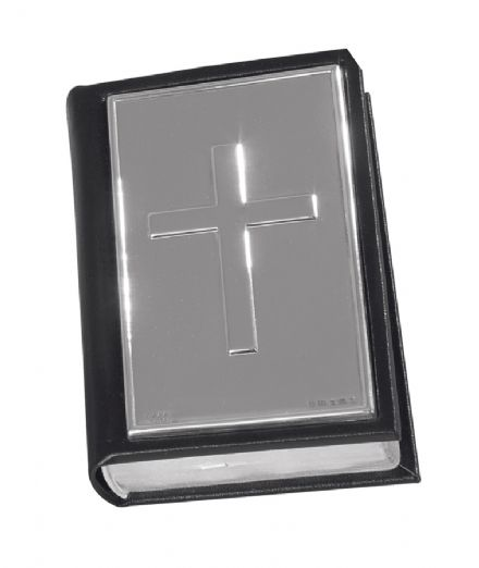 Hallmarked Sterling Silver Black Bible